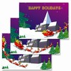 Happy Holiday, Lenticular animated Picture, Christmas and New Year Card, Santa Claus and Ring Dear ,  977-PC