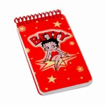 "Betty Boop Lenticular Mini Spiral Bound Notebook, 2""x4"", College Ruled, 200 Pages, Star, Red"