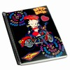 "Betty Boop Lenticular Ultra Spacious Spiral Bound Notebook, 6""x9"", Blank, 200 Pages, Changing Biker Girl Image, Black"