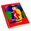 "Betty Boop Lenticular Ultra Spacious Spiral Bound Notebook, 6""x9"", College Ruled, 200 Pages, Abstract 3D Image, Red"