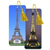 3D Lenticular Flip Bookmark Eiffel Tower Paris France Day and Night