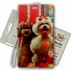 3D Lenticular All Weather Luggage Tag with Clear Plastic Loop, 3D Image, Dog, Poodles