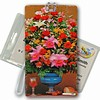 3D Lenticular All Weather Luggage Tag with Clear Plastic Loop, 3D Image, Flowers Vase