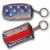 3D Lenticular Key Chain, Key Ring, Lipstick Case, Coin Purse, Changing Image Pattern , Red White, Blue, American Stars, Wheels, R-012B-Globi