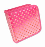 Lenticular CD DVD Case / Wallet (Holds 24), Changing Image Pattern, PInk, Red, Star,  R-012P-CD24