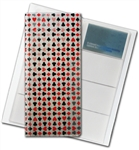 "3D Lenticular 4""x10"" Business Card File (Holds 128) ,BF128 , White , Red, Black"
