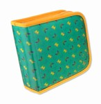 Lenticular CD DVD Case / Wallet (Holds 24), Changing Image Pattern, Green, Yellow, Rianbow, Butterfly, R-019G-CD24