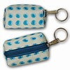 3D Lenticular Key Chain, Key Ring, Lipstick Case, Coin Purse, Changing Image Pattern , White, 3-D Moving Blue Dots, R-042-Globi