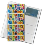"3D Lenticular 4""x10"" Business Card File (Holds 128) , , BF128, Flowers, Red, Blue, Yellow"