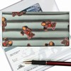 Lenticular Check Book Cover, 3D Ted Bear , Silver