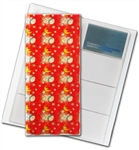 "3D Lenticular 4""x10"" Business Card File (Holds 128) , BF128 , MOON and White BALLS, Red, White"