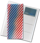 "3D Lenticular 4""x10"" Business Card File (Holds 128) ,BF128 , American, Red, White, Blue, Star"