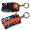 3D Lenticular Key Chain, Key Ring, Lipstick Case, Coin Purse, Changing Image Pattern , 3-D Space Walk, Blue, Stars, R-217-Globi
