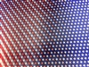 3D Lenticular Fabric Sheet Changing Stars and Stripes Patriotic USA