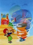 3D Lenticular POSTCARD - ALADDIN MAGIC LAMP