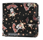 Betty Boop Lenticular Wallet with Coin Compartemt, Changing Image Pattern, Black