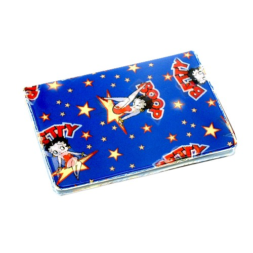 Betty boop 3d lenticular betty boop lenticular business card holder with two pockets size 3x4 1 colourmoves