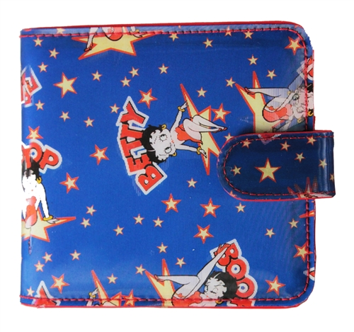 Betty Boop Lenticular Wallet with Coin Compartemt Changing Image Pattern Blue