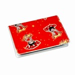 Betty Boop Lenticular ID Card Holder with vinyl insert of six frosted pockets, Changing Image Pattern, Red