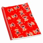 "Betty Boop Lenticular Ultra Spacious Spiral Bound Notebook, 6""x9"", Blank, 200 Pages, Changing Image Pattern, Red"