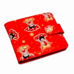 Betty Boop Lenticular Wallet with Coin Compartemt, Changing Image Pattern, Red
