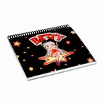 "Betty Boop Lenticular Photo Album 4""x6"" , Changing Image, Black"