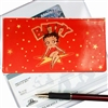 Betty Boop Lenticular Checkbook Cover, Changing Image Pattern, Black