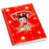"Betty Boop Lenticular Ultra Spacious Spiral Bound Notebook, 6""x9"", Blank, 200 Pages, Star, Red"