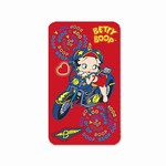 "Betty Boop Lenticular Magnet (Fridge Magnets) 2""x4"", Changing Biker Girl Image, Red"