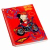 "Betty Boop Lenticular Ultra Spacious Spiral Bound Notebook, 6""x9"", Blank, 200 Pages, Changing Biker Girl Image, Red"