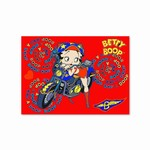 "Betty Boop Lenticular Postcard 4""x6"" , Changing Biker Girl Image, Red"