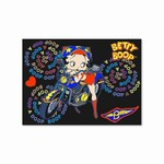 "Betty Boop Lenticular Postcard 4""x6"" , Changing Biker Girl Image, Black"