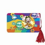 "Betty Boop Lenticular Bookmark with Tassle 2""x4"", 3D Hippy Guitarist Image, Rainbow"
