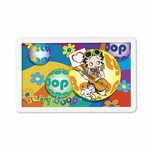 "Betty Boop Lenticular Magnet with Clear Acrylic Frame 2""x4"", 3D Hippy Guitarist Image, Rainbow"