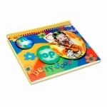 "Betty Boop Lenticular Spiral Bound Notebook, 4""x6"", Unruled, 144 Pages, 3D Hippy Guitarist Image, Rainbow"