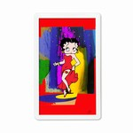"Betty Boop Lenticular Magnet with Clear Acrylic Frame 2""x4"", Abstract 3D Image, Red"
