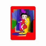 "Betty Boop Lenticular 4""x6"" Magnet Deluxe 4""x6"", Abstract 3D Image, Red"