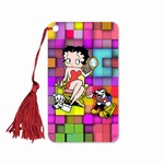 "Betty Boop Lenticular Bookmark with Tassle 2""x4"", 3D Movie Star Mosaic Image, Rainbow"