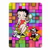"Betty Boop Lenticular 4""x6"" Magnet Deluxe 4""x6"", 3D Movie Star Mosaic Image, Rainbow"