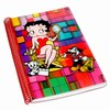 "Betty Boop Lenticular Ultra Spacious Spiral Bound Notebook, 6""x9"", Blank, 200 Pages, 3D Movie Star Mosaic Image, Rainbow"