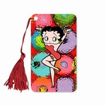 "Betty Boop Lenticular Bookmark with Tassle 2""x4"" , 3D Futuristic Spheres Image, Rainbow"