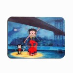 "Betty Boop Lenticular 4""x6"" Magnet Deluxe 4""x6"", 3D Betty Boop Rock n Roll under New York Brooklyn Bridge"