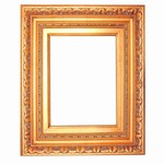 Golden Solid Wood Picture Frame, FR-A8652G-LECCO