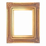 Golden Solid Wood Picture Frame, FR-B7555-FERMO