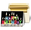 3D Lenticular Greeting Holiday Card Happy Birthday Candle