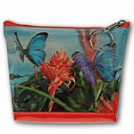 Lenticular Purse, 3D Lenticular Image, Butterfly and Flowers, I-003-Pavia