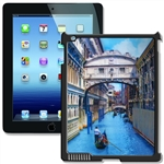 Lenticular iPad Skin for iPad 2 and iPad 3, Black, Boat rowing in Venice Canal Lantor Ltd