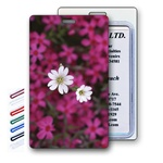 Lenticular Standard Luggage Tag with Clear Plastic Loop, 3D Flowers, LT01-202