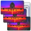 Lenticular Standard Luggage Tag with Clear Plastic Loop, Lenticular Standard Luggage Tag with Clear Plastic Loop, Animated image shows a Jumbo Jet Air plane taking off from Airpot, LT01-207