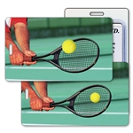Lenticular Standard Luggage Tag with Clear Plastic Loop, Animated Tennis LT01-217